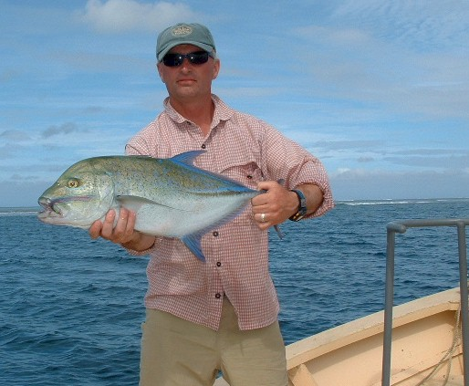 Bruce Roberts and Blue Fin Trevally