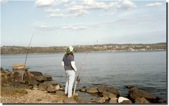 Fishing for time with a wishing line...Croton Point; Croton-on-Hudson, New York