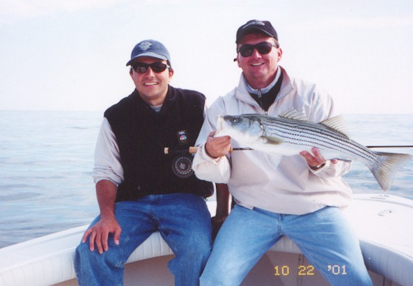 Peter McCarthy and striped bass