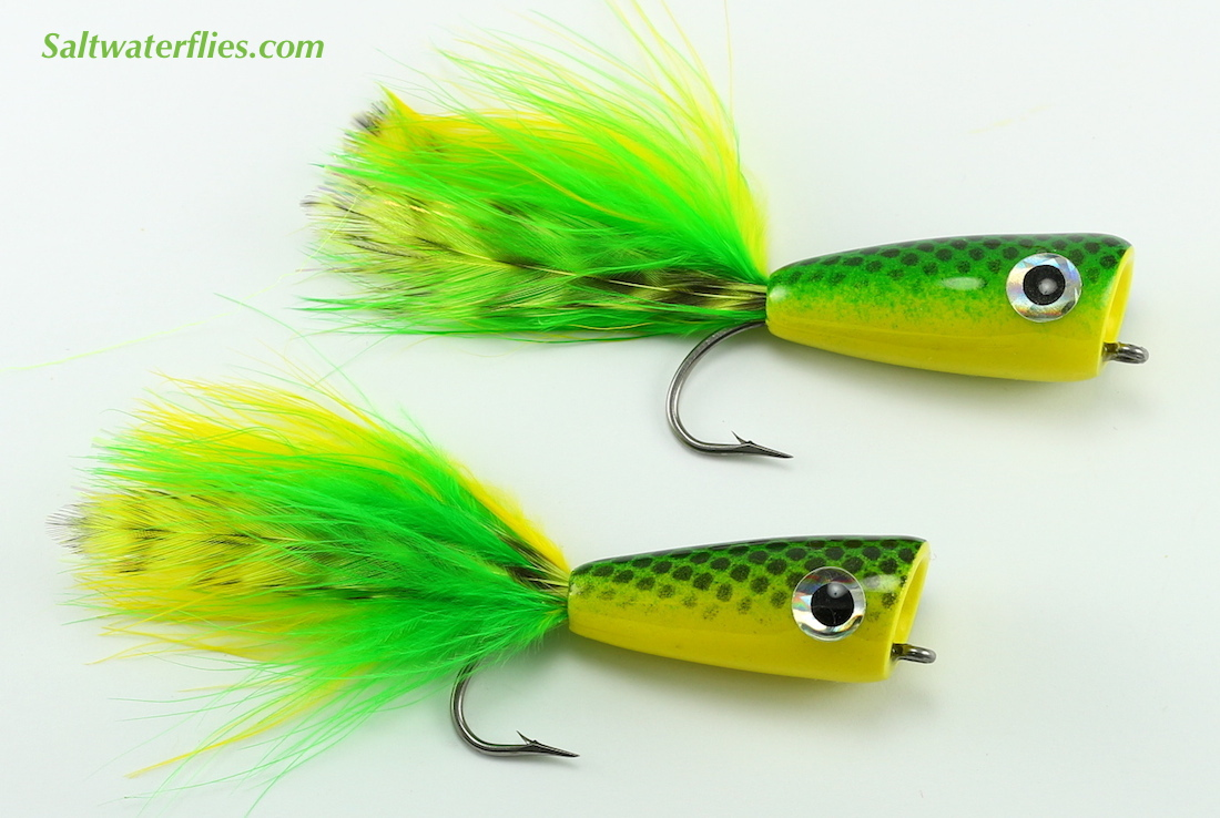 Rainy's Inshore Popper Green & Yellow