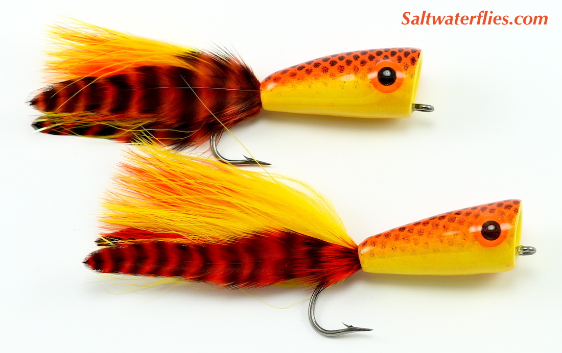 Rainy's Inshore Popper Hot Orange Yellow