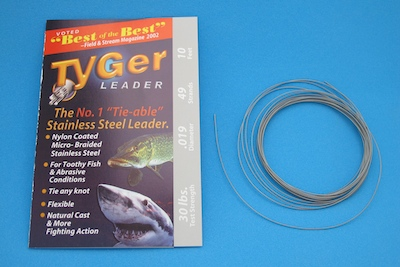 TyGer Leader Braided Wire Tippet material